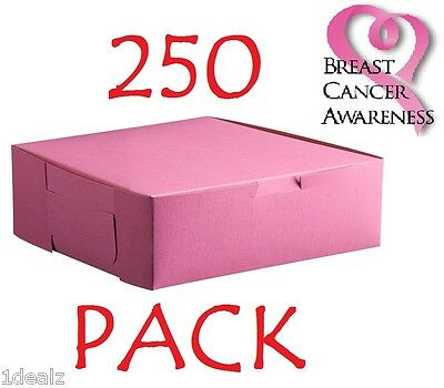 """250 PINK Bakery Cookie Pastry Box 6"""" x 4 1/2"""" x 2 3/4"""" Made in USA Bundle Pack"""