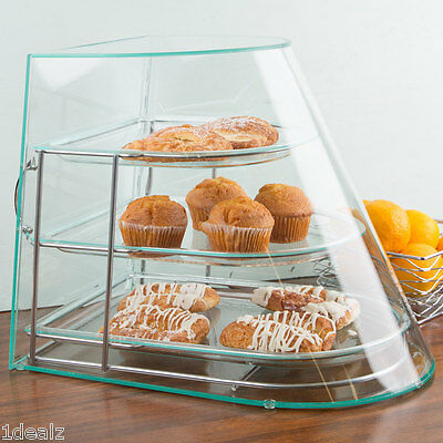 New Cal-Mil  3-Tier Tray Display Case Bakery Donut Pastry  Candy Hotel Store