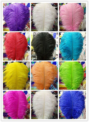 Wholesale 10/50/100pcs 6-24inch/15-60cm high quality natural Ostrich feathers