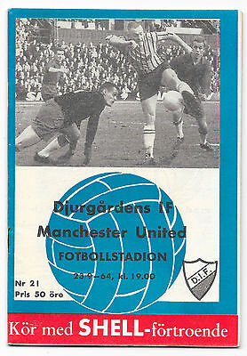 Djurgardens IF v Manchester United, 1964/65 - Fairs Cup 1st Rd Match Programme.