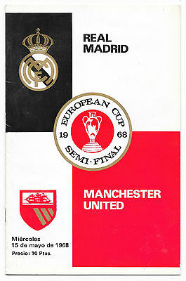 Real Madrid v Manchester United, 1967/68 - European Cup Semi-Final Programme.