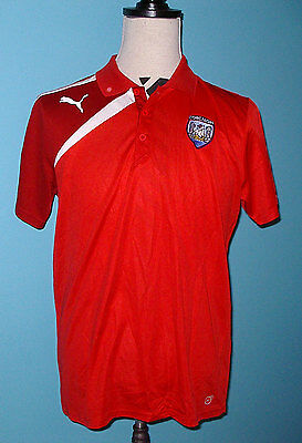 GAA Cork Corcaigh Polo Golf Shirt L Hurling Gaelic Ireland Puma