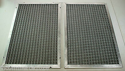 TWO 14x20x1 Washable Air Filter Aluminum Reusable Actual 13 5/8 x 19 5/8 x 3/4
