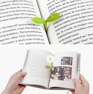 Memo 4PCS Mark Gifts Silicone Book Bookmarks Note Stationery Novelty Pad Leaf
