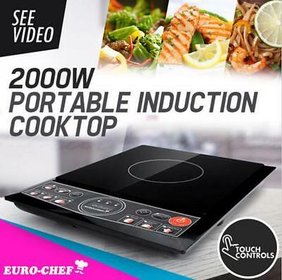 300-2000W Electric Induction Cooktop Portable Kitchen Cooker Ceramic Glass Top