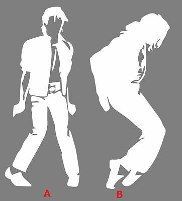 Michael Jackson sticker for Mac laptops or cars. Black or white decal