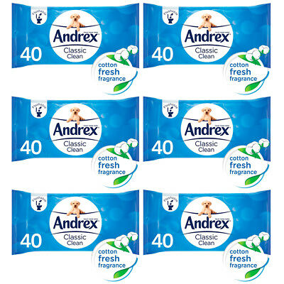 Andrex Washlets 12 x 400 per pack = 480 Flushable Tissue Wipes Just £1.03 ex VAT