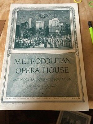 Historic Vintage Metropolitan Opera House Program New York History 15 Week 1933