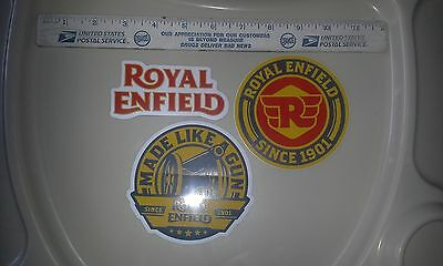 ROYAL ENFIELD motorcycle  3 STICKERS.