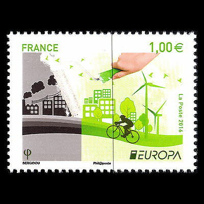 """France 2016 - EUROPA Stamp """"Think Green"""" - Sc 5023 MNH"""