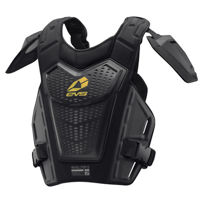 EVS NEW Mx RV5 Adult Black Roost Chest Protector Motocross Revo 5 Body Armour