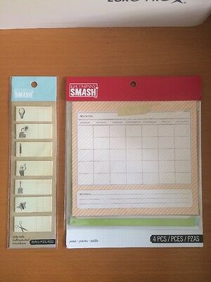 K&COMPANY New Smash Pockets Sticky Notes Accessories Lot Journal Crafts Creative
