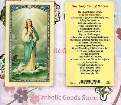 Our Lady Star of the Sea - Laminated Holy Card