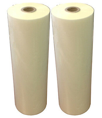 "2rolls 25""x500ft thermal laminating film,1.7mil gloss,1"" core,hot roll laminator"