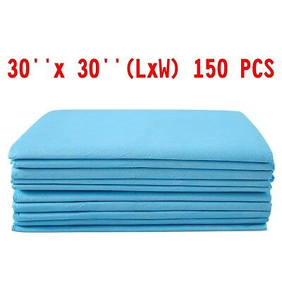 """150 Pcs Dog Cat Pet Puppy Training Pads Wee Wee Pee Underpads Blue 30*30"""""""