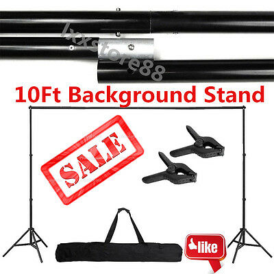 10Ft Adjustable Support Stand Photo Backdrop Crossbar Kit Photography FreeshipL8