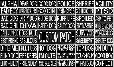 Custom Personalized Removable Patch Label Tag For Dog Harness and Collar