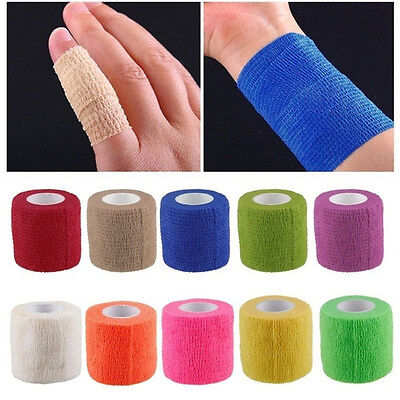 Self-Adhering Kinesiology Bandage Wraps Elastic Adhesive First Aid Tape 8 Colors