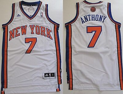 NBA Trikot Jersey NEW YORK KNICKS Carmelo Anthony 7 white Revolution30 Swingman