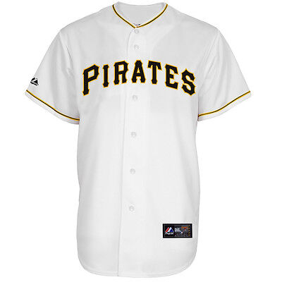 MLB Baseball Trikot Jersey PITTSBURGH PIRATES Home white von Majestic
