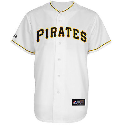 MLB Baseball Trikot Jersey PITTSBURGH PIRATES - Home white - von Majestic
