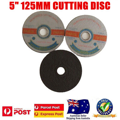 """100x 125mm 5"""" CUTTING DISC WHEEL ANGLE GRINDER CUT OFF METAL STEEL STAINLESS #80"""