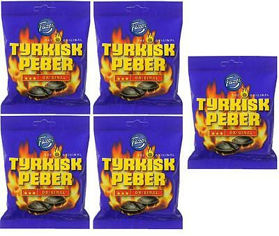 TYRKISK PEBER (Turkish Pepper) candy x 5 bags 150g FAZER Finland *BEST VALUE