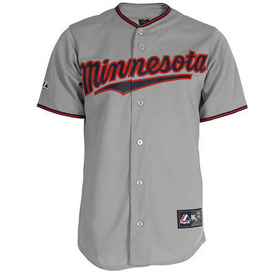 MLB Baseball Trikot/Jersey MINNESOTA TWINS - Road gray von Majestic