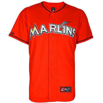 MLB Baseball Trikot Jersey MIAMI MARLINS orange von Majestic