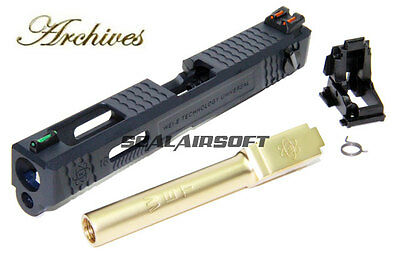Archives WEI-E CNC Aluminum Custom Toy Slide For WE / Marui G18C GBB Gold Barrel