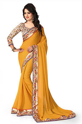 Bollywood Designer Sari Indian Traditional Ethnic Bridal Party Wear New Saree N