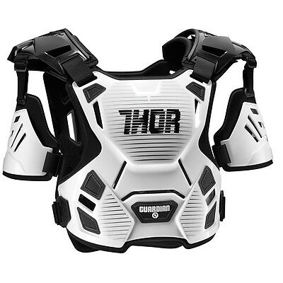 THOR MX Motocross GUARDIAN Chest Protector/Roost Guard (White/Black) XL-2XL