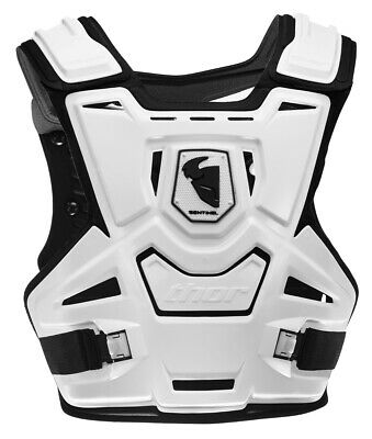 THOR MX Motocross SENTINEL CE Chest Protector/Roost Guard (White) Adult