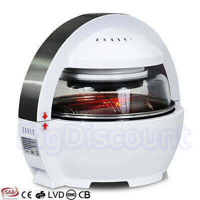 13L Air Fryer Convection Oven Halogen Flavor Infrared Wave Microwave BBQ Cooker