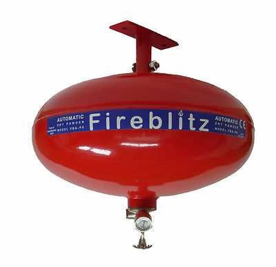 New Fireblitz 6Kg Abc Dry Powder Automatic Fire Extinguisher Roof Free Shipping