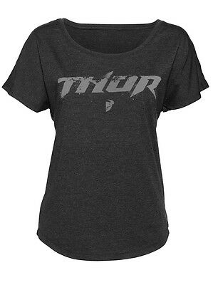 THOR MX Motocross Women's 2017 ROOST Dolman Tee T-Shirt (Black) M (Medium)