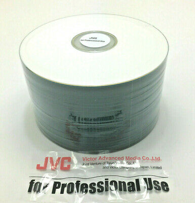 100 Pcs CD-R 80 JVC Taiyo Yuden Shiny White Prism Non Printable Made in Japan