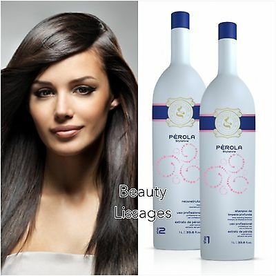 Lissage Bresilien Eternity Liss Perola Kit 2X250 Ml / Authentique !!! ( Inoar )