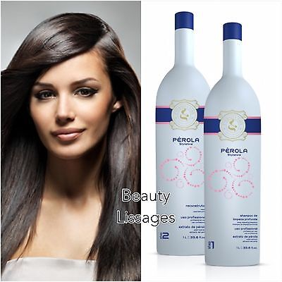 Lissage Bresilien Eternity Liss Perola Kit 2x200 Ml / Authentique !!! ( Inoar )