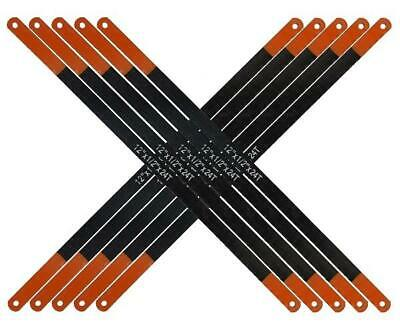 """10 x 12"""" 24Tpi Senior Hacksaw Saw Carbon Steel Replacement Blades 300mm x 12mm"""