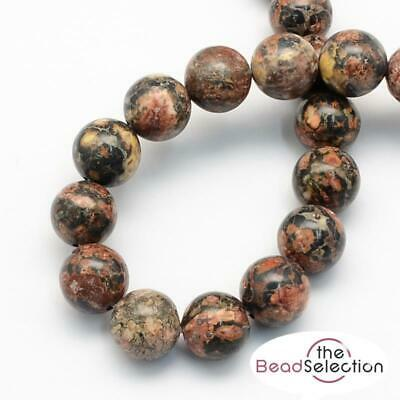 PREMIUM QUALITY LEOPARD SKIN AGATE ROUND GEMSTONE BEADS 8mm 25 Beads