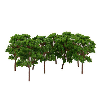 10 Model Green Trees Train Railway Architecture Forest Scenery Layout HO OO 12cm