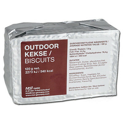 Outdoor Biscuits 125g Emergency Food Ration MRE Prepper Survival Outdoor