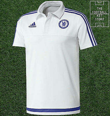 Chelsea FC Polo Shirt - Official Adidas Football Training Top - Mens - All Sizes