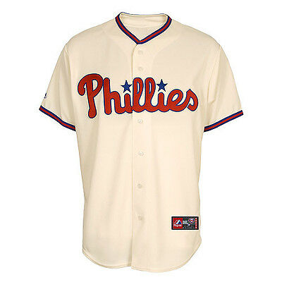 MLB Baseball Trikot/Jersey PHILADELPHIA PHILLIES  - Home creme von Majestic