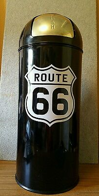 Route 66 Bullet Style Trash Can