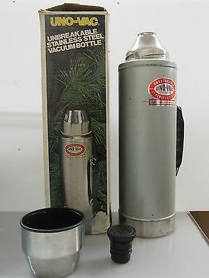 Vintage Stainless Steel Uno-Vac Thermos Unbreakable t31
