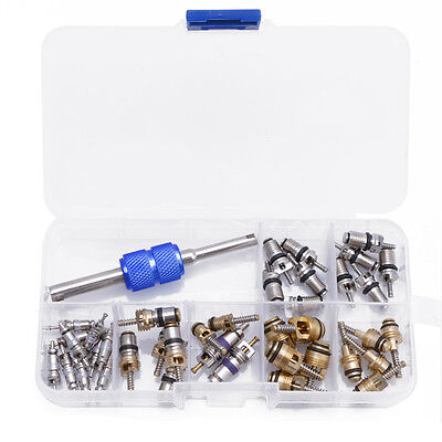 Hot 39x R12 R134A Car Air Conditioning A/C Tire Valve Stem Core Remover Tool Kit