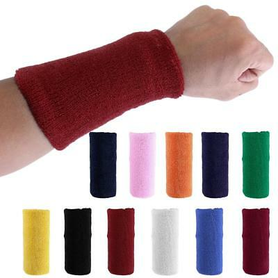 Outdoor Sports Cotton Sweatband Wrist Tennis Yoga WristBand Unisex 11 Color