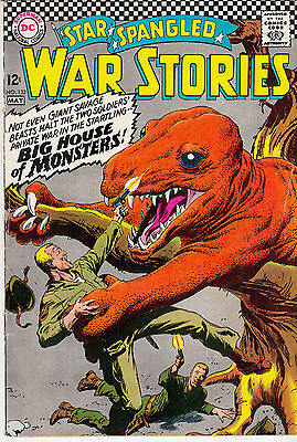 Star Spangled War Stories #132 (Apr/May 1967) Dinosaur cover & story